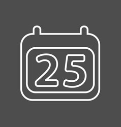 calendar icon simple calendar with date 25 vector image