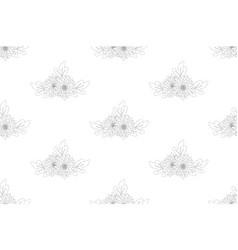 chrysanthemum flower seamless on white background vector image vector image