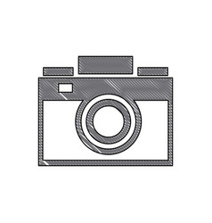 drawing photo camera picture device flash lens vector image