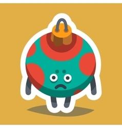 Emoticon Icon Happy New Year Tree Toy vector image vector image