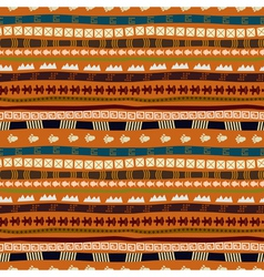 Ethnic abstract pattern with African motives vector image vector image