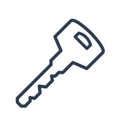 line key icon on white background vector image