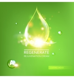 Regenerate cream and Vitamin vector image vector image