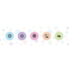 5 range icons vector