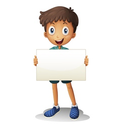 a boy with white paper vector image
