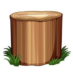 A stump with weeds vector