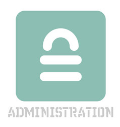 Administration conceptual graphic icon vector