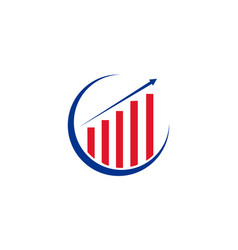 Americans colors for business growth logo and fina vector