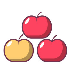 apples icon cartoon style vector image