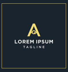 Aq monogram logo vector