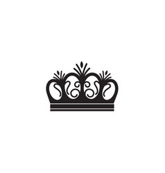 arched queen crown icon isolated on white vector image