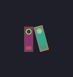 Archive Folders computer symbol vector image