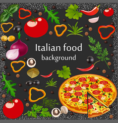 background for a menu italian food with vector image