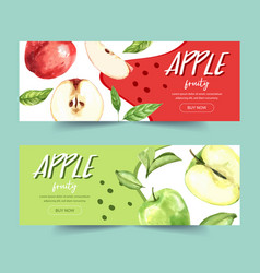 Banner design with green and several types vector
