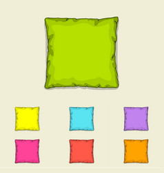 Bed pillow templates set of multicolored pillows vector