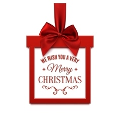 Big Christmas sale square banner in form of gift vector