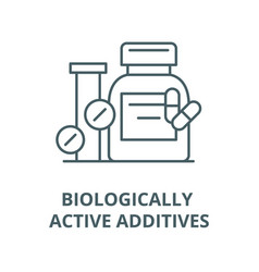 Biologically active additives line icon vector