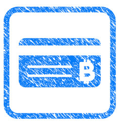 bitcoin banking card framed stamp vector image