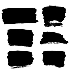 Black brush strokes vector