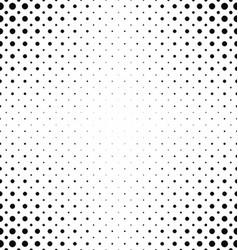 Black white dot pattern background vector image