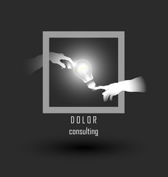 business consulting or business idea concept vector image