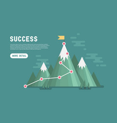 business goal success concept infographic vector image