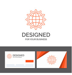 business logo template for world globe seo vector image