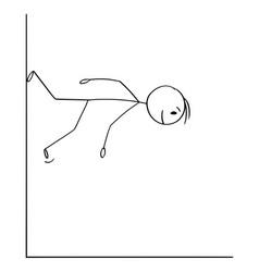 Cartoon man or businessman walking down vector