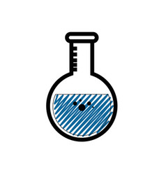 chemistry flask glass vector image