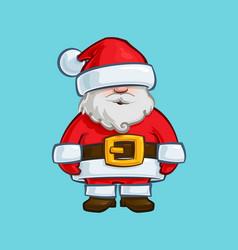 christmas cartoon icon - santa claus doll vector image