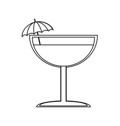 Cocktail drink icon image vector