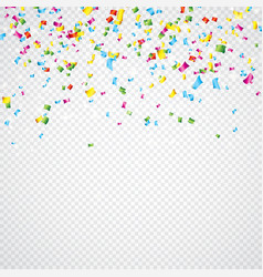colorful confetti on vector image