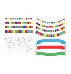 Colorful Garlands on white background vector image