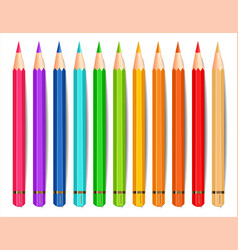 colorful pencils isolated realistic vector image