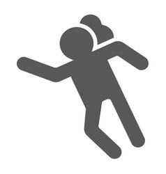 Crime scene glyph icon accident and murder vector