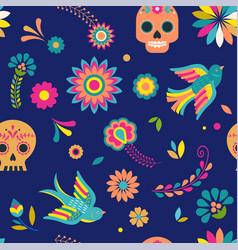 day dead dia de los muertos background and vector image