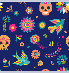 Day of the dead dia de los muertos background and vector