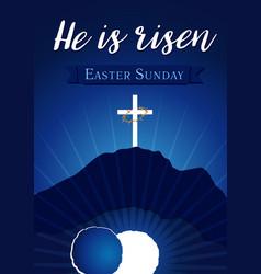 Easter sunday holy week calvary tomb bg vector