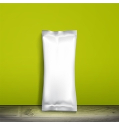 Empty packaging design for ice cream or other vector image