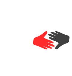 Fair trade handshake flat icon symbol vector