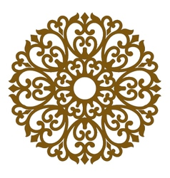 Filigree ornament seamless lace pattern vector