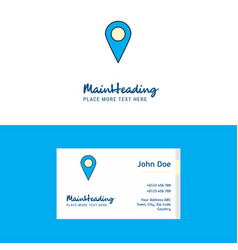 flat map location logo and visiting card template vector image