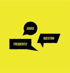 Frequently ask question banner vector