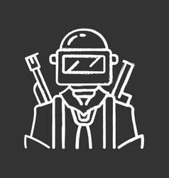 game soldier warrior chalk icon player vector image
