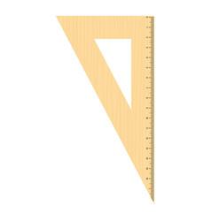 Geometric ruler icon flat style vector
