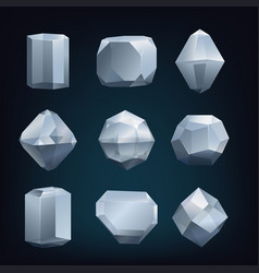 glass crystal vector image vector image