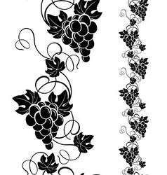 Grapevine design elements vector