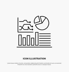Graph success flowchart business line icon vector