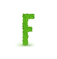 Green Leaves font F vector
