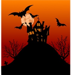 Halloween house flyer vector